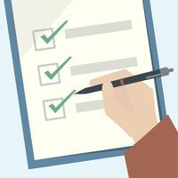 Ilustración de un portapapeles de lista de verificación