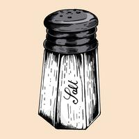 Hand getrokken zout shaker