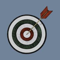 Illustrazione disegnata a mano del tirassegno e della freccia