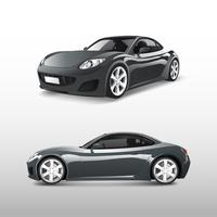 Gray sports car isolated on white vector