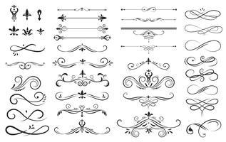 Sammlungssatz der Aufkleberverzierungs-Vektorillustration