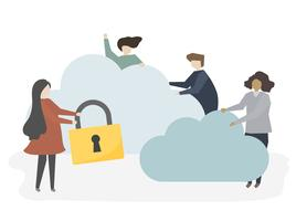 Abbildung von Leuten mit Netzsicherheit