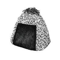 Bola de arroz de onigiri mão desenhada