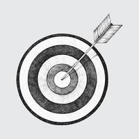 Dibujado a mano ilustración de dardos y flechas