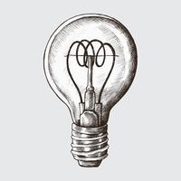 Hand-drawn light bulb illustration