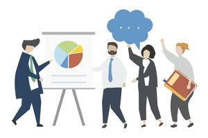 Personaggi caratteristici in un incontro di lavoro
