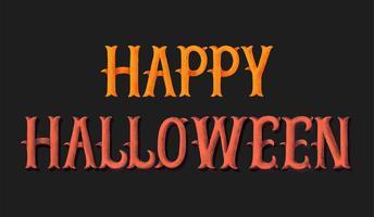 Happy Halloween typografie illustratie