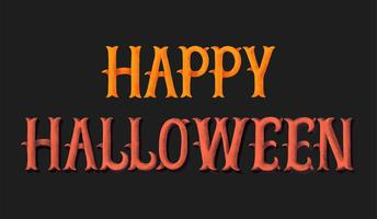Lycklig Halloween typografi illustration