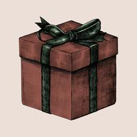 Sketch of a wrapped gift box
