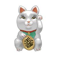Japanese Maneki Neko figurine illustration