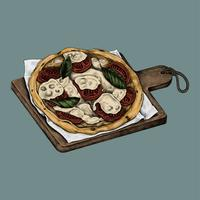 Illustrazione di una pizza italiana