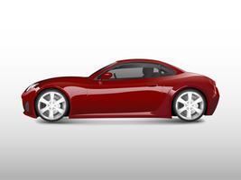 Rode sportwagen die op witte vector wordt geïsoleerd