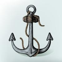 Hand drawn metal shank anchor