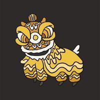 Chinesische Löwetanz-Kostümillustration
