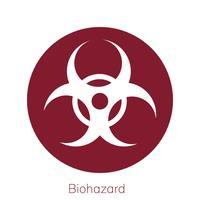 Ilustração, de, biohazard, sinal aviso