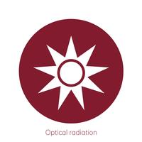 Illustration of optical radiation caution sign