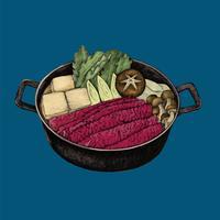 Illustration de la cuisine japonaise