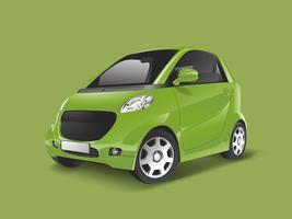Green compact hybrid car vector