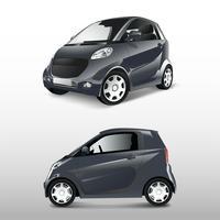 Gray compact hybrid car vector