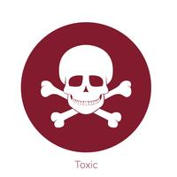Illustration of toxicity warning sign