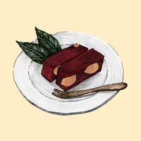 Illustrazione del piatto giapponese