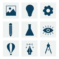 Verzameling van zakelijke pictogramafbeeldingen
