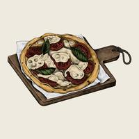 Illustration of an Italian pizza
