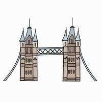 Tower Bridge das ikonenhafte Symbol der London-Illustration