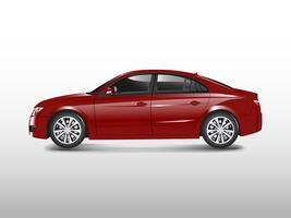 Sedan vermelho