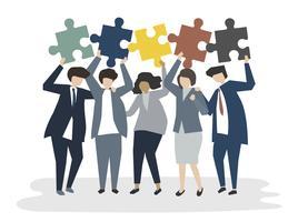 Illustration av folk avatar teamwork koncept