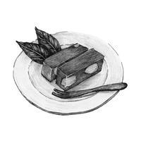 Handritad mizu yokan Japansk traditionell dessert