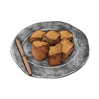 Illustration of Japanese food