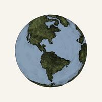 Ilustración de globo dibujado a mano