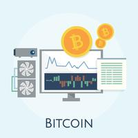 Illustration av bitcoin koncept