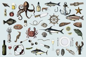 Meeresfrüchte- und Seemannskonzept