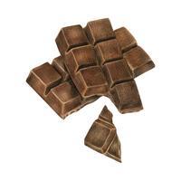Ilustração, de, barra chocolate