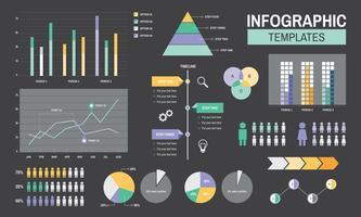 Infographic sjablonen voortgangsanalyse grafieken grafiek illustratie