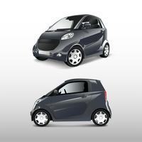 Vetor de carro híbrido compacto cinza