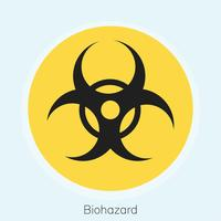 Illustration av biohazard varningsskylt