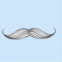 Vettore di icona di baffi
