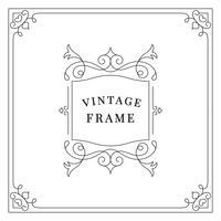 Floresce a ilustração de quadro de ornamento vintage