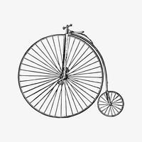 Penny farthing styled bicycle