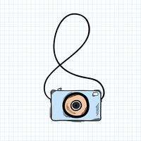 Illustratie van camera die op achtergrond wordt geïsoleerd