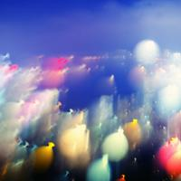 Blurred bokeh lights night time wallpaper