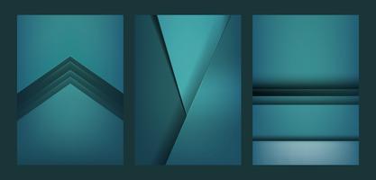 Conjunto de design abstrato em verde