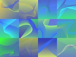 Reeks kleurrijke trillende 3d golfgrafiek