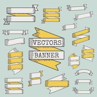 Conjunto de vetores de fita e banner