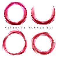 Banner abstracto en rojo