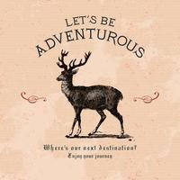 Siamo avventurosi logo design vettoriale