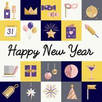 Nouvel an icônes définies vector